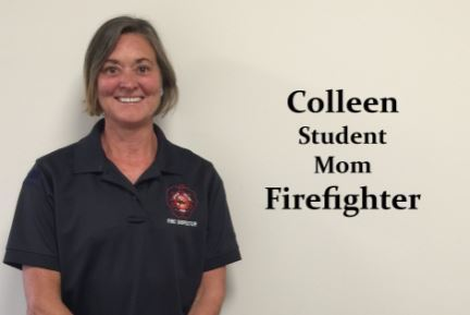 Firefighter Colleen is also a student and a mom