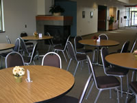 tables and chairs in Senior Center lounge
